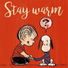Linus and Snoopy 'Stay warm' Peanuts Cartoon, Cartoon Dog, Peanuts Snoopy, Cartoon Characters, Peanuts Comics, Snoopy Images, Snoopy Pictures, Charlie Brown Y Snoopy, Snoopy Quotes