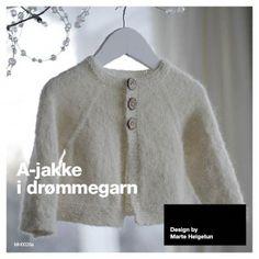 A-jakke i drømmegarn, år - Mine mønstre - Butikken min - Design by Marte Helgetun Crochet Woman, Crochet Baby, Knit Crochet, Baby Knitting Patterns, Knitting Designs, Line Jackets, Baby Kids, Barn, Clothes For Women