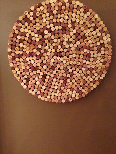 Wine cork wall hanging.