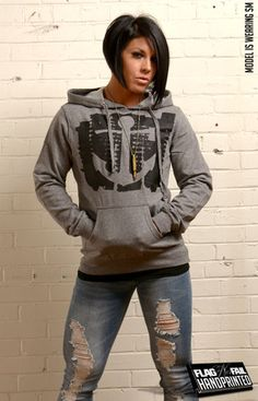 AXE & ANCHOR HOODIE (GRAY) Love this stuff
