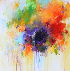 colorful abstract flower painting