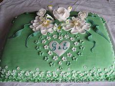 Torta Floreale Promessa di Matrimonio