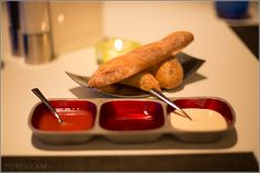 Wave Restaurant – Fresh bread - Mediterranean food with beautiful view - at the W Hotel Barcelona, Spain/Spanien, Europe