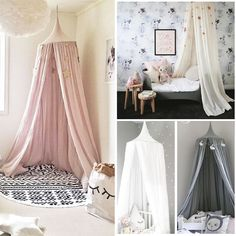 Crib Netting Kid Baby Bed Canopy Bedcover Mosquito Crib Netting Curtain Bedding Round Dome Tent Cotton Harmonious Colors