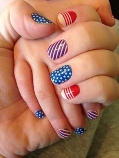 Mommy & me 4th of July nails with our jamberry juniors! Check it out.  www.brittny.jamberrynails.net