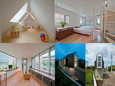 Uma casa pequena por fora e grande por dentro parece uma equação meio impossível mas é isto que se percebe nessa casa projetada no Japão pelo arquiteto Kota Mizuishi, do Mizuishi Architect Atelier.
