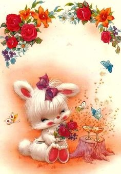 Papel de Carta Cute Images, Cute Pictures, Baby Animals, Cute Animals, Beautiful Rabbit, Very Beautiful Flowers, Easter Wallpaper, Good Night Greetings, Night Wishes