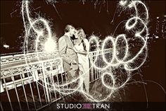 Sparkler Fun - tips for creating these amazing sparkler photos from Studio Tran Photographers