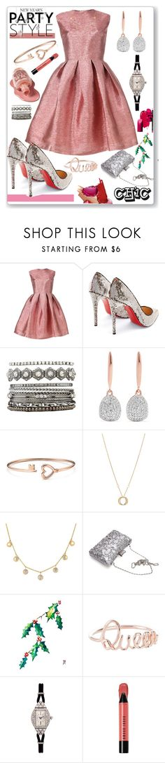 """New year 's party"" by eldinreham on Polyvore featuring Daizy Shely, Christian Louboutin, Charlotte Russe, Monica Vinader, Charriol, Lauren Conrad, LC COLLECTION and Bobbi Brown Cosmetics"