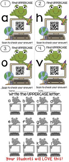 These QR codes Uppercase and Lowercase Center activity is part of 11 math and reading centers that your kiddos will love! Come check it out to see what else is in this Mega Pack... Soon to be available in Spanish! Created by Alma Almazan