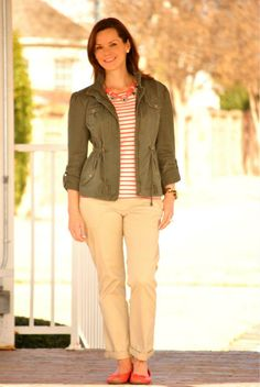 ac2f70947f9 40+Bloggers Show Off Their Mom Style. Military Style JacketsMilitary ...