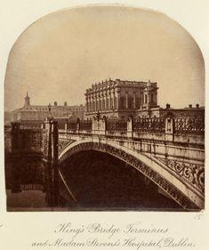 'King's Bridge Terminus and Madam Stevens's Hospital, Dublin' c.1880 after an original of c.1860