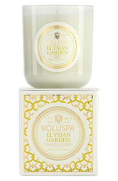 Voluspa 'Maison Blanc - Elysian Garden' Boxed Candle available at #Nordstrom