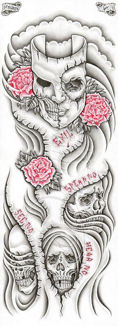 Evil themed full-sleeve by dfmurcia