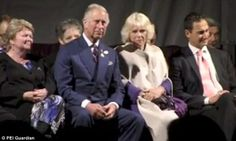 Unamused: The excruciating moment Prince Charles and Camilla Parker-Bowles were forced to ...