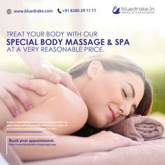 Bluedrake Offers Best Body Massage Services in a Luxurious Atmosphere. To Get Full Body Massage Services Call us to book Body Massage Spa, Extra Virgin Oil, Home Salon, Nice Body, Appointments, Stress, Luxury, Natural, Beautiful Body