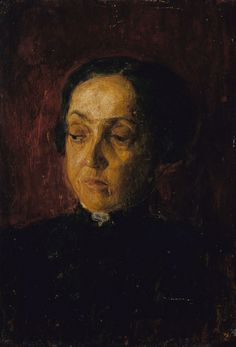 """""""Mother of Henry O. Tanner,"""" Henry Ossawa Tanner, oil on plywood, 13 x 9 1/4"""", Smithsonian American Art Museum."""