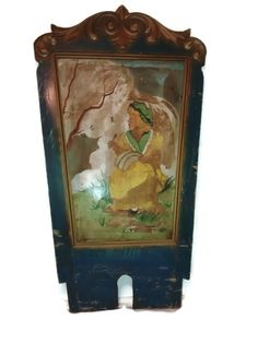 Large Antique Carousel Panel  1917 Carnival  by thelongacreflea