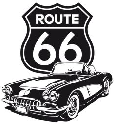 Wall sticker Corvette Route This time the signal is behind a Corvette, with which to make the route to the American style. Vintage Signs, Vintage Cars, Arte Lowrider, Route 66 Road Trip, Car Posters, Car Drawings, Stencil Art, Harley Davidson Motorcycles, Vintage Posters