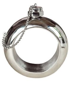 A Cynthia Rowley Silver Secret Flask Bangle is every woman's best friend.