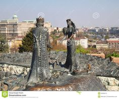 Lookout-Stone Statue in Budapest, Hungary