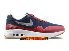 Nike Air Max 1 Ultra Moire Chaussures de Basket Nike Pas Cher Pour Homme Bleu/Rouge 705297-006