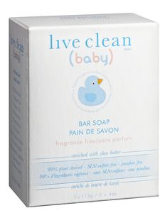 Live Clean Baby Fragrance-Free Bar Soap - available @ Wal-mart