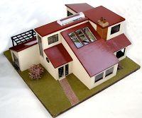 Modern Mini Houses: Vintage Mini-Modern Dollhouse on eBay