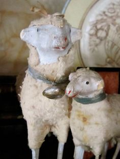 vintage putz sheep