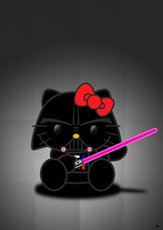 Darth Kitty - May the Cutie-Force be with you! By Arian Noveir.