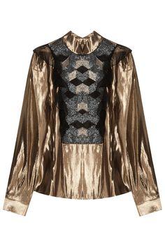Lk35 Tara Metallic Ls Blouse By PREEN BY THORNTON BREGAZZI @ http://www.boutique1.com/