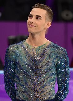 Skater Adam Rippon Exults After a Bronze-Medal-Worthy Olympic Turn: 'My Life Has Changed Forever' — People Figure Skating Olympics, Adam Rippon, Mens Figure Skates, Team Events, Ice Skating Dresses, Skater Boys, Olympic Sports, Attractive People, Olympians