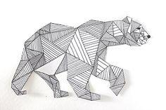 polar bear tattoo geometric - Google Search