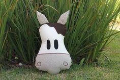 #Almofada #Cavalo com zíper para comporuma #decoração divertida!  #cushion #pillow #horse #zipper