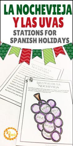 ¡Felices fiestas! Use hands on station activities to introduce Spanish culture and holiday traditions! La navidad, día de los reyes magos, la lotería, nochebuena, nochevieja..and more! Click to download these resources!