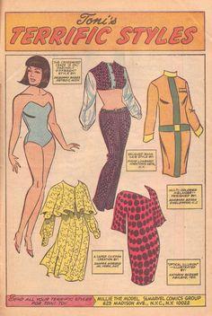 Comic Book Paper, Comic Books, Millie The Model, Fun Crafts, Paper Crafts, Vintage Paper Dolls, Comics Online, Free Paper, Optical Illusions