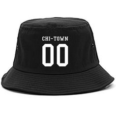 Kings Of NY Chitown Team Jersey Chicago Chiraq Bucket Hat ($20) ❤ liked on Polyvore featuring accessories, hats, bucket hat, fishing hat and fisherman hat