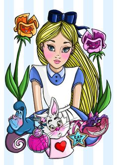 Hey, I found this really awesome Etsy listing at https://www.etsy.com/listing/209553421/alice-in-wonderland-a4-art-print-by