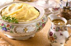 #Vegan Mashed Potatoes with Onion Gravy. #GlutenFree