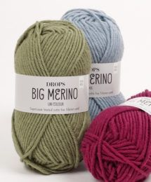 DROPS Big Merino is the sequel to DROPS Merino Extra Fine, spun from extra fine merino wool fibers from free-range animals in South America. Knitting Wool, Wool Yarn, Knitting Patterns, Merino Wool, Knitting Club, Knitting Videos, Knitting Needles, Crochet Patterns, Drops Design