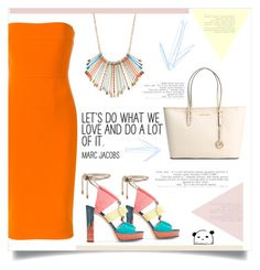 """""""Untitled #165"""" by d-meggy ❤ liked on Polyvore featuring Jimmy Choo, MICHAEL Michael Kors, Victoria Beckham and Mudd"""