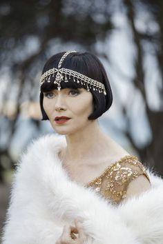 Amazing accessories! Essie Davis stars as Phryne Fisher in Miss Fisher's Murder Mysteries, now streaming on http://www.acorn.tv.