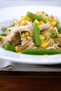 Recipe for Whole Wheat Orzo Chicken Salad with Roasted Corn & Green Beans   DeLallo Recipes