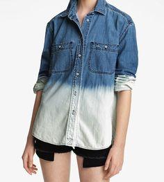 dip dye bleach denim shirt | textile elizabeth and james