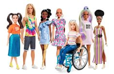 """The Mattel fashion icon is launching a new range of Barbie dolls to help showcase """"a multi-dimension view of beauty."""" The new dolls include hairloss and vitiligo. Barbie Und Ken, New Barbie Dolls, Barbie Fashionista Dolls, Mattel Barbie, Barbie Stuff, Modelo Ashley Graham, Different Skin Tones, Nouveau Look, Popular Toys"""