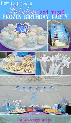 Throw a fabulous and frugal DIY Frozen Birthday party with these free printables, food ideas, games and favor ideas!