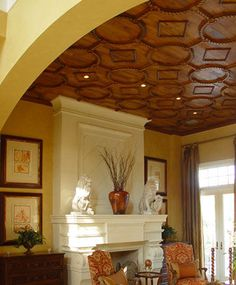 ceiling texture trends  | Architectural Woodwork by Taracea Custom - Old World style for high ...