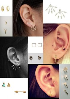 Piercings and earrings Cute Piercings, Body Piercings, Piercing Tattoo, Ear Piercing, Bar Stud Earrings, Crystal Earrings, Body Jewelry, Fine Jewelry, Jewellery