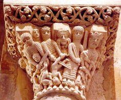 Romanesque Sculpture, Romanesque Art, Religious Architecture, Gothic Architecture, Santa Cecilia, Graven Images, Column Capital, Renaissance, Ancient Goddesses