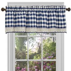 Sweet Home Collection Buffalo Check Gingham Kitchen Curtain Valance, x Black/White Swag Curtains, Rod Pocket Curtains, Window Curtains, Farm Curtains, Indigo Curtains, Kitchen Window Valances, Window Cornices, Kitchen Windows, Buffalo Check Curtains